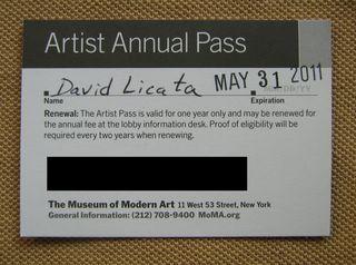Moma Artist Annual Pass