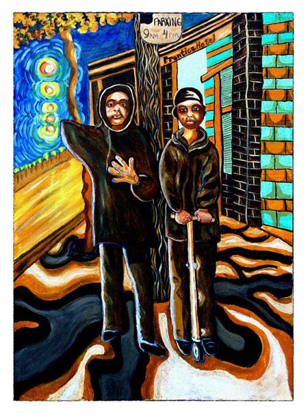 Skid Row Artists Group of Skid Row Painters